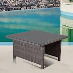 Atlantic Bellagio Wicker Patio Low Dining Table, Gray