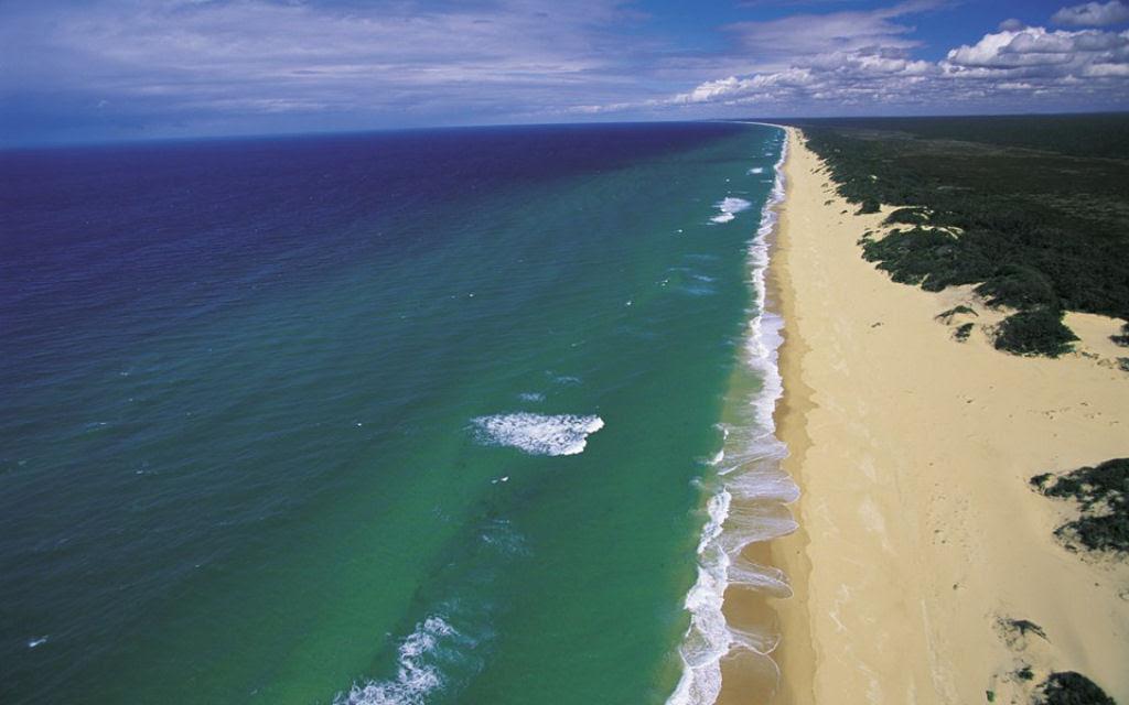 A praia de 150 quilômetros de extensão, na Austrália 02