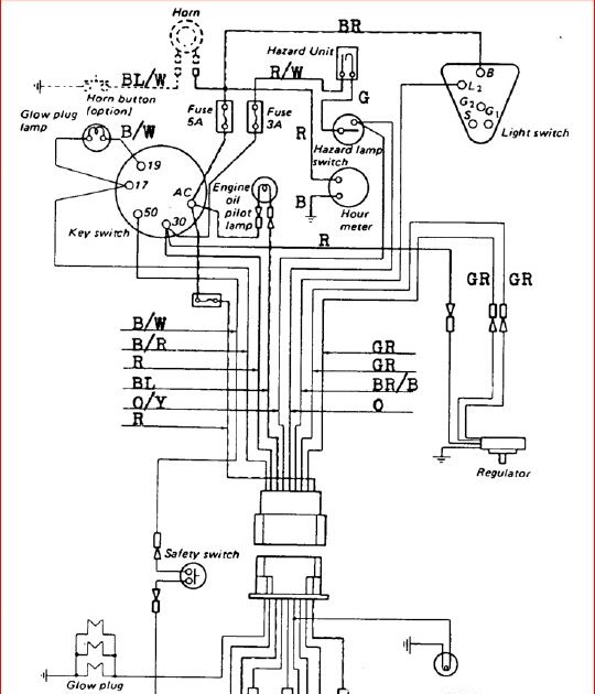 diesel engine kubota ignition switch wiring diagram