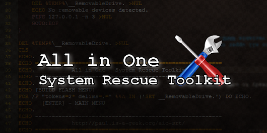 All in One – System Rescue Toolkit (and Lite) 2017 is ready for download