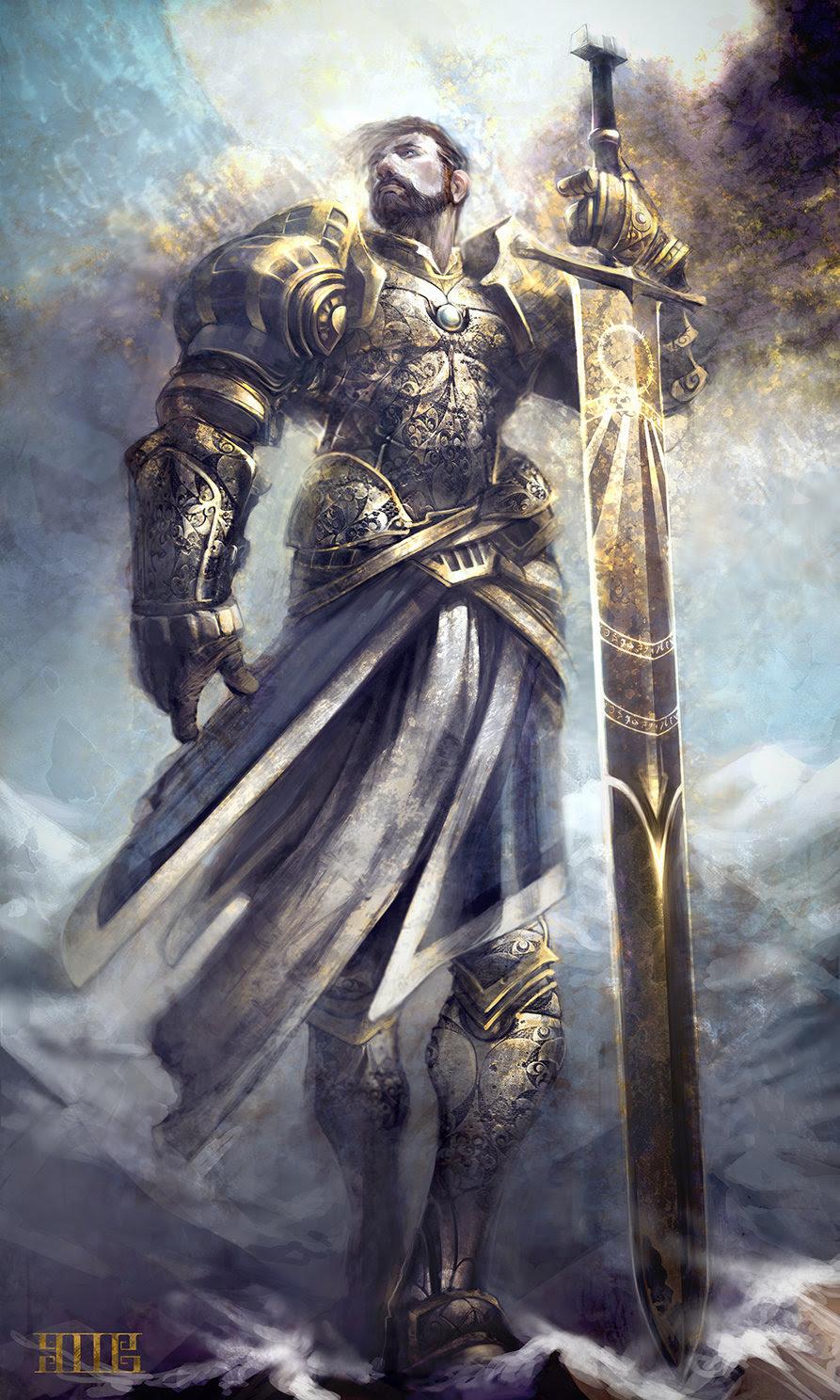 fantasy Knight holy fantasy art paladin knightandknights •