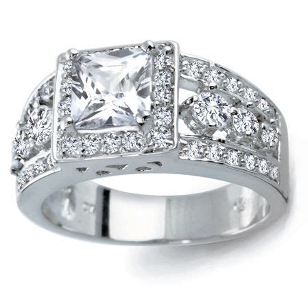 This engagement ring is made of solid .925 sterling silver