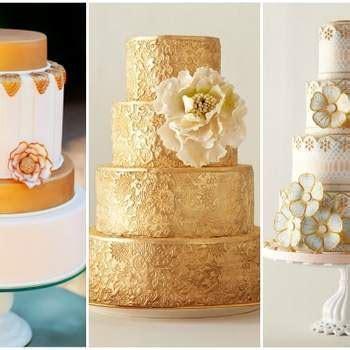 Hochzeits Details in der Farbe Gold