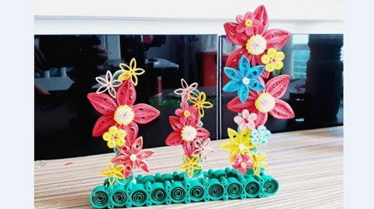 paper quilling flower decoration quilling for home decoration quilling flower design