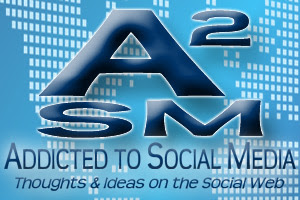 English: Logo for the Addicted to Social Media...