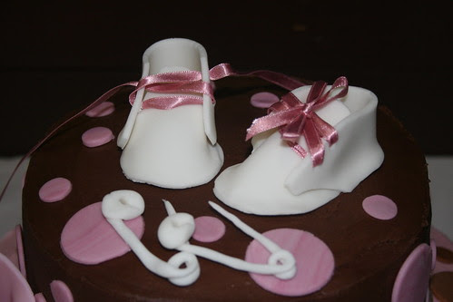 baby shower booties and safety pins
