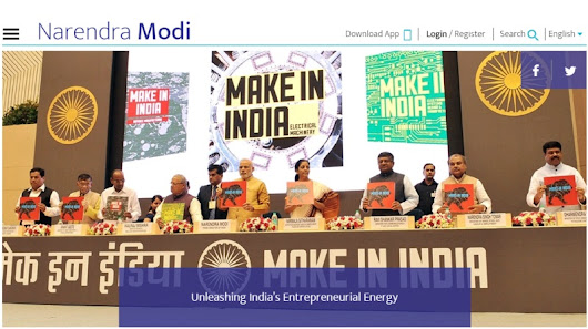 Prime Minister Modi's Website Gets a Makeover