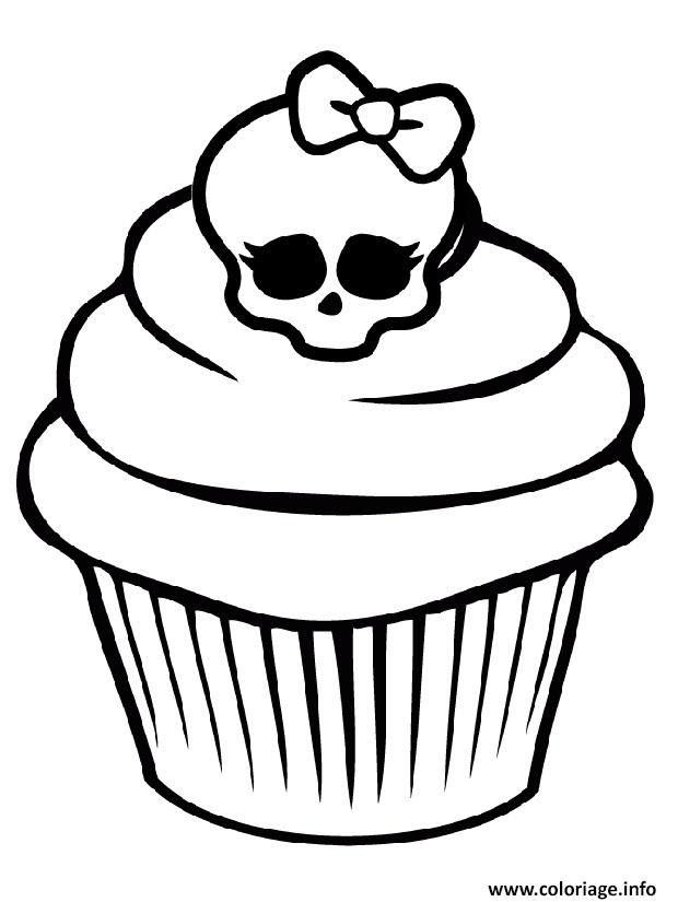 Coloriage Monster High Cupcake Jecoloriecom