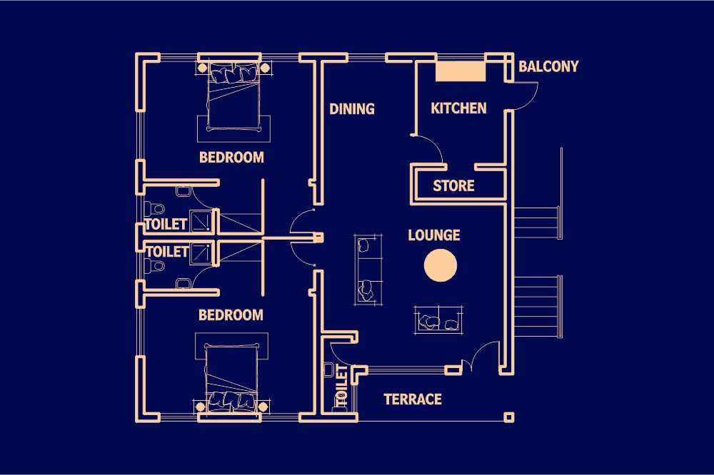 Type B - 2 Bedroom « Mouna Apartments Limited