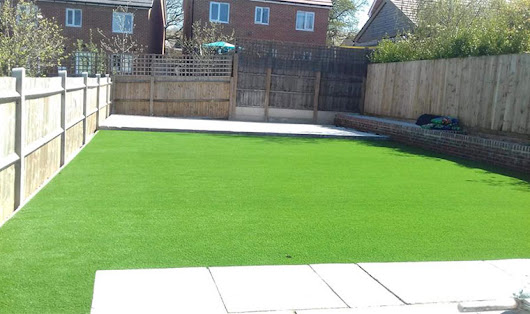 An easy artificial grass install in Longfield | Perfect Grass Ltd