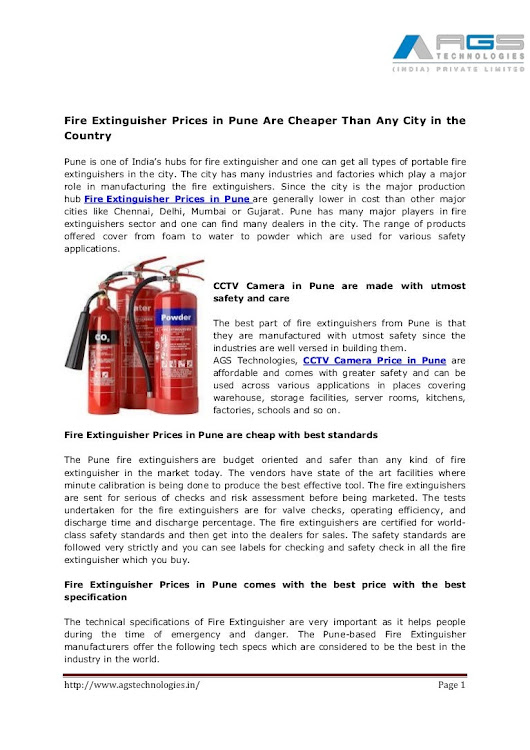 Fire extinguisher prices in pune