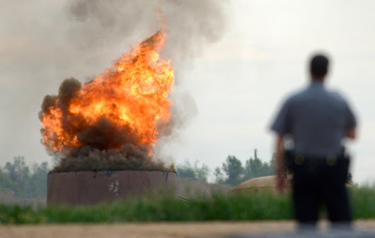 Anadarko oil tank fire in Mead injures three workers, spews black smoke