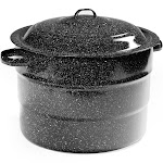Granite Ware 21.5 qt Water Bath Canner with Rack, Black