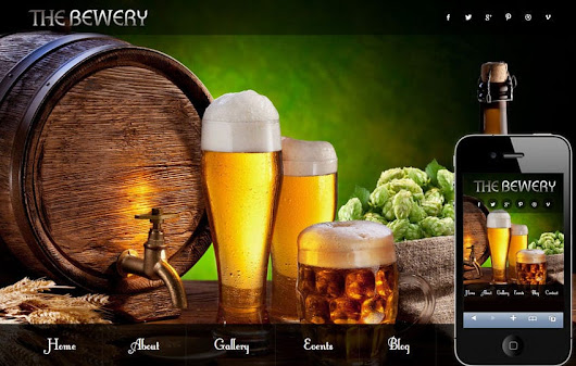 Brewery food and drinks Mobile Website Template by w3layouts