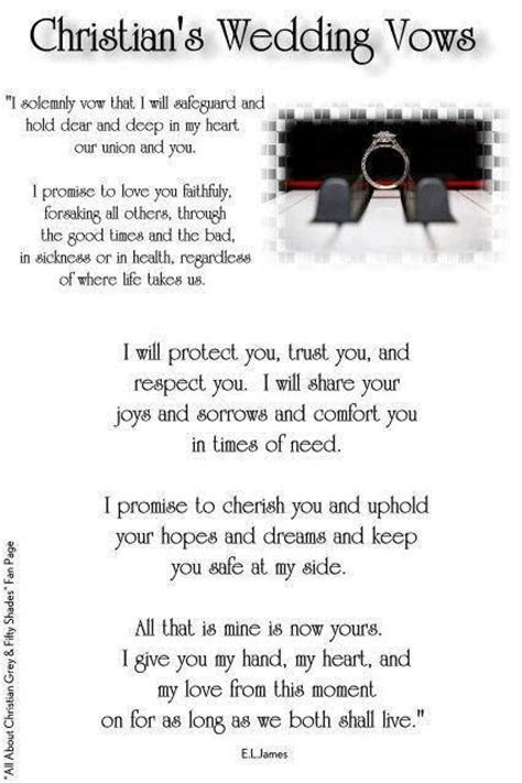 Christian's Wedding Vows   Wedding Bliss   Pinterest