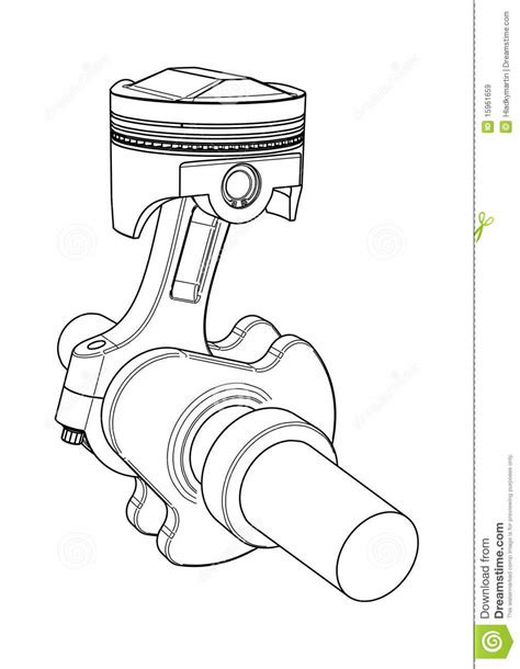 Engine piston stock vector. Illustration of design, motor