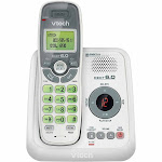 VTech CS6124 Cordless Phone with 1 Handset, White