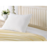 Pillow Guy Exquisite Hotel Gusseted Gel Fiber Filled Med/Firm Overstuffed Pillow - Best for Side/Back Sleeper - White (Queen)