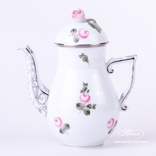 Vienna Rose Platinum Coffee pot | Herend Austria