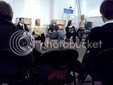 Ensemble Parallele rehearsal, 02.03.2012 Q&A following open rehearsal of Ensemble Parallele's The Great Gatsby. Marco Panuccio, Susannahy Biller, Jason Detwiler, Julienne Walker, Nicole Paiement.