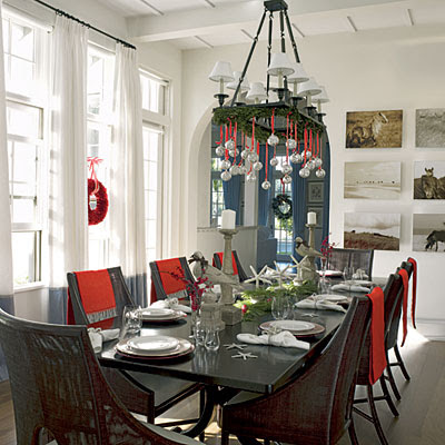 Christmas Dining Room Decor – Red and White | Christmas Decorated