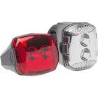 Bell Radian 450 Locking LED Light Set, White Red Silver