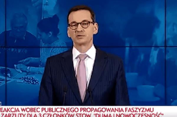 Mateusz Morawiecki podziękował dziennikarzom TVN za materiał o neonazistach. Ważna deklaracja premiera [WIDEO]