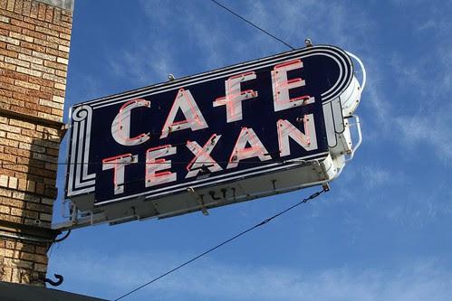café texan neon sign