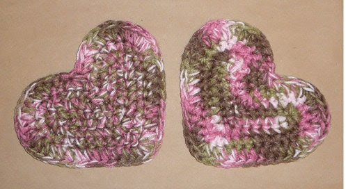 PINK CAMO HEARTS Military Camouflage by CraftCreationsEtsy on Etsy