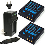 Wasabi Power Battery (2-Pack) And Charger For Ricoh DB-65