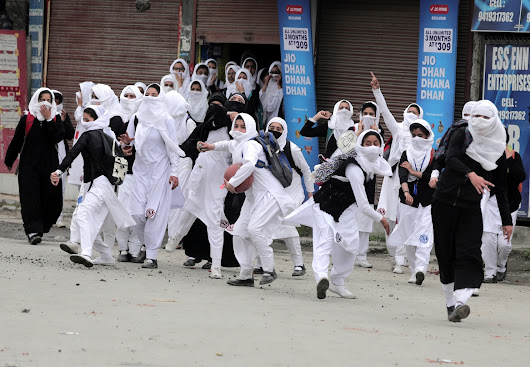 Teen girls with stones are the new threat in India's Kashmir conflict