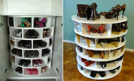 How To Make DIY Rotational Lazy Susan Shoe Rack | How To Instructions
