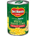 Del Monte Fresh Cut No Salt Added Golden Sweet Whole Kernel Corn 15.25 oz. Pull-Top Can