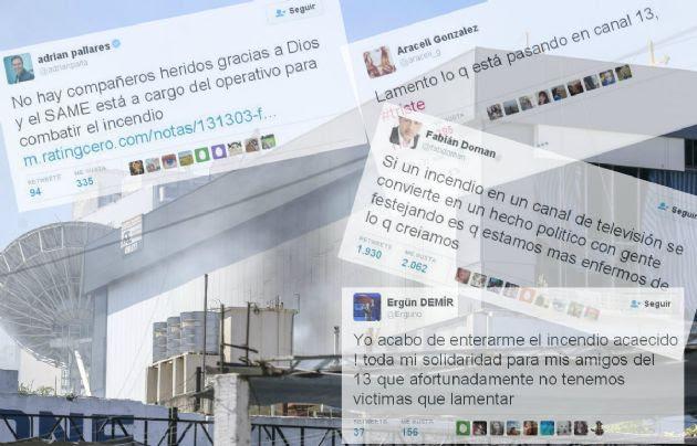 Famosos expresaron su pesar por el siniestro en Canal 13