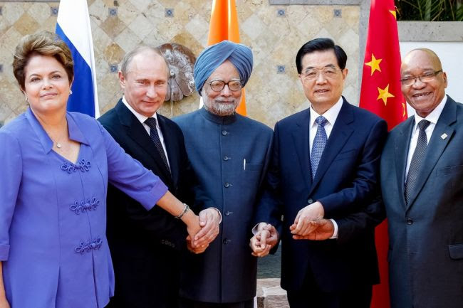 BRICS is the acronym for an association of five major emerging national economies: Brazil, Russia, India, China, and South Africa