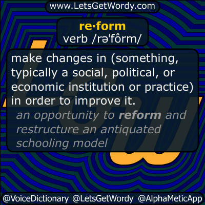 reform 11/23/2014 Definition