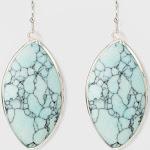 Marquis Shape Stone Drop Earrings - Universal Thread Blue, Women's