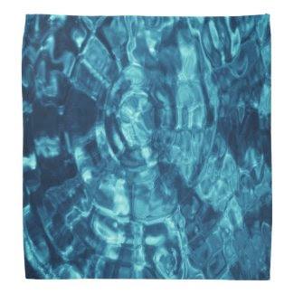 Blue Abstract Bandanna