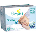 Pampers Swaddlers Sensitive Size 2 Diapers 132 ct Box