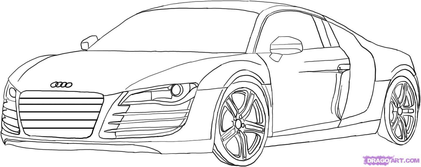 Coloriage204: coloriage à imprimer de voiture