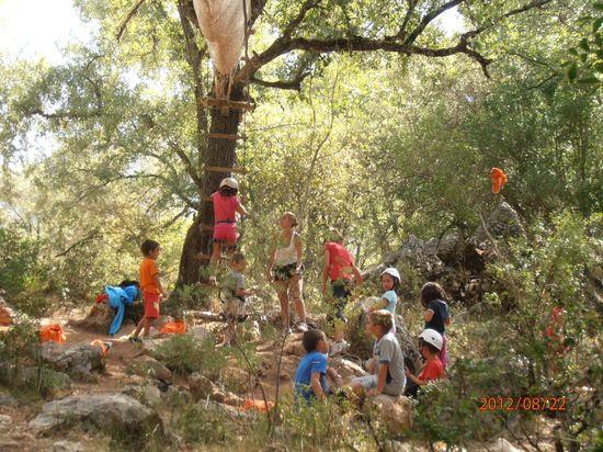 Niños en una colonia rural de Cazorla