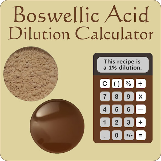 Boswellic Acid Dilution Calculator - Marvy Moms