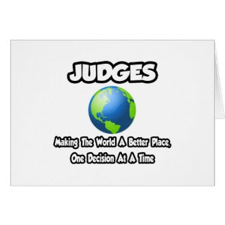 Judges...Making the World a Better Place Greeting Card