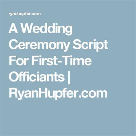 Wedding, Wedding ceremony script and Scripts on Pinterest