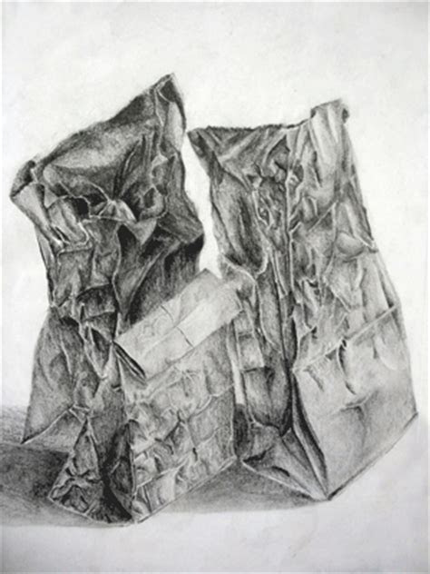 drawing paper bags art lesson plan