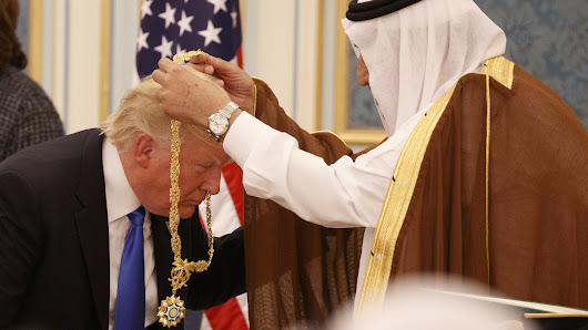 Fanfare And Deals Dominate Trump's First Day In Saudi Arabia