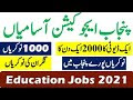 Punjab Education Foundation PEEF Jobs 2021 For Invigilators-1000+ Jobs All Over Punjab