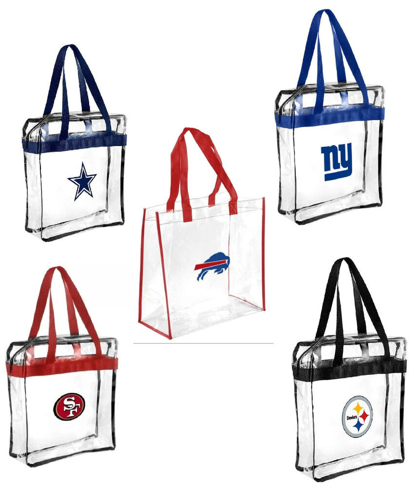 NFL 2015 Football Clear Messenger Tote Bag Stadium Approved  Pick Team  eBay