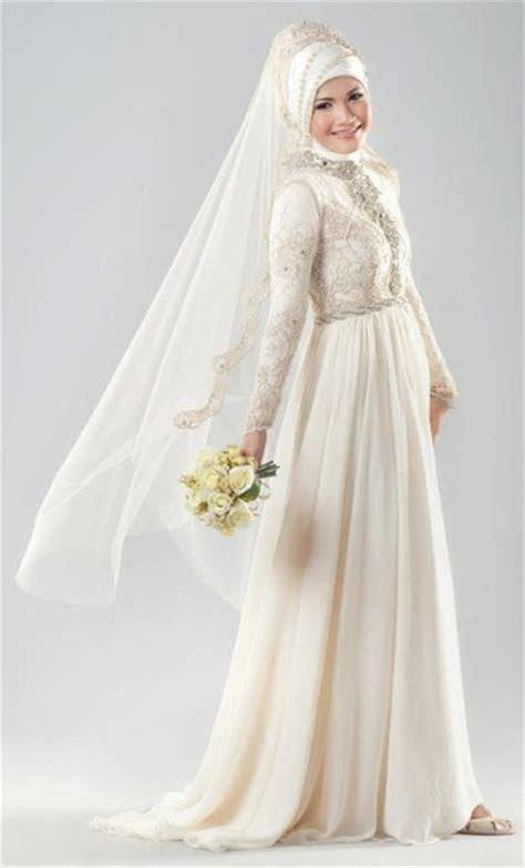 gaun pengantin kebaya muslimah modern