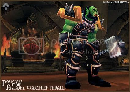 Postcards of Azeroth: Warchief Thrall, by Rioriel Ail'thera